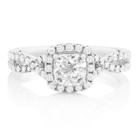 Sir Michael Hill Designer GrandAdagio Engagement Ring with 1 3/4 Carat TW of Diamonds in 14ct White Gold