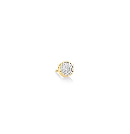 Men'S Stud Earring with 0.30 Carat TW of Diamonds In 10ct Yellow Gold