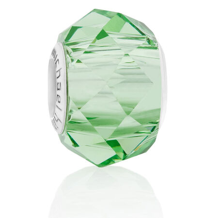 Green Faceted Crystal Charm