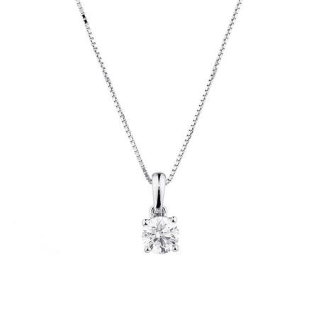 Pendant with 1/2 Carat TW Diamond in 14ct White Gold