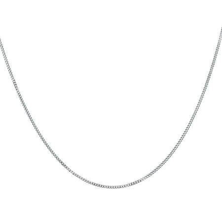 """45cm (18"""") Curb Chain in 14ct White Gold"""
