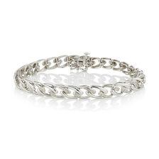 Online Exclusive - Fancy Bracelet with Diamonds in Sterling Silver