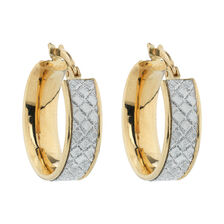Online Exclusive - Glitter Hoop Earrings in 10ct Yellow Gold