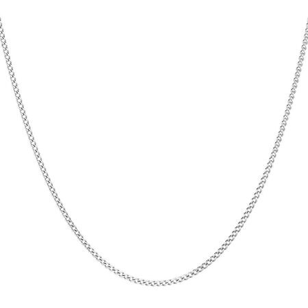 """40cm (16"""") Curb Chain in 10ct White Gold"""