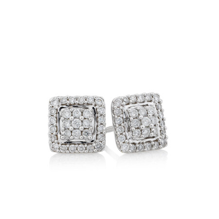 Online Exclusive - Stud Earrings with 1/3 Carat TW of Diamonds in 10ct White Gold