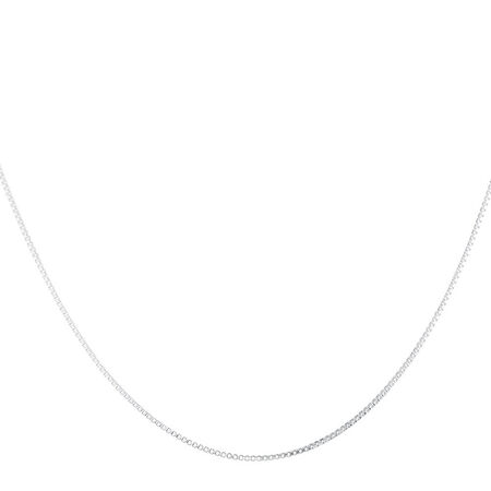 "45cm (18"") Box Chain in Sterling Silver"