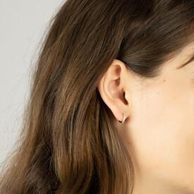 Mini Hoop Earrings with Diamonds in 10ct Rose Gold