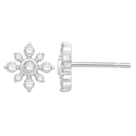 Cluster Earrings with 0.34 Carat TW of Diamonds