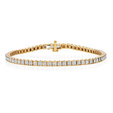Tennis Bracelet with 3/4 Carat TW of Diamonds in 10ct Yellow Gold