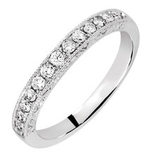 Wedding Band with 0.30 Carat TW of Diamonds in 14ct White Gold