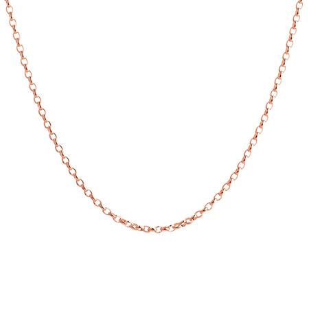 """55cm (22"""") Hollow Belcher Chain in 10ct White Gold"""