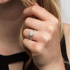 Southern Star Engagement Ring With 1.35 Carat TW Of Diamonds In 14ct Yellow & White Gold