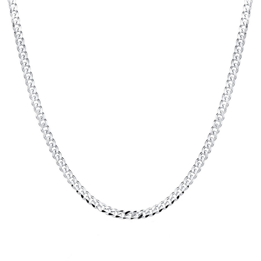 """60cm (24"""") Curb Chain in Sterling Silver"""