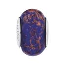 Dark Blue & Pink Sparkle Murano Glass Charm