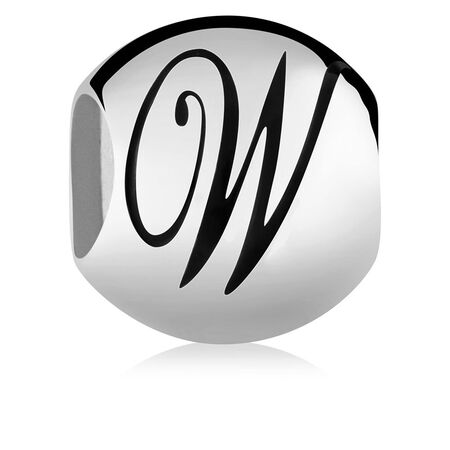 Sterling Silver 'W' Charm
