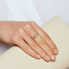 Heart Ring with Diamonds in 10ct Yellow Gold