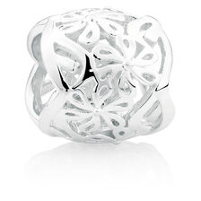 Sterling Silver Floral Filigree Wild Hearts Charm