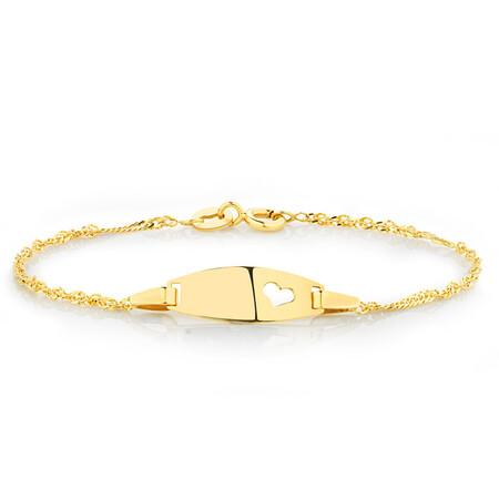 Baby Identity Bracelet in 10ct Yellow Gold