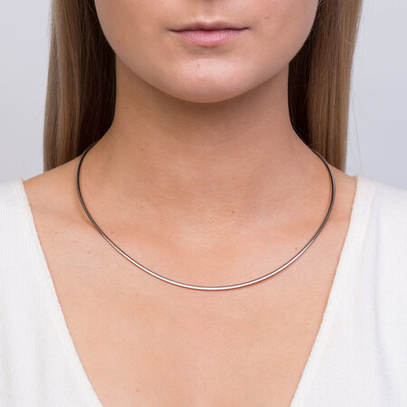 """45cm (18"""") Solid Chain in 10ct Yellow & White Gold"""