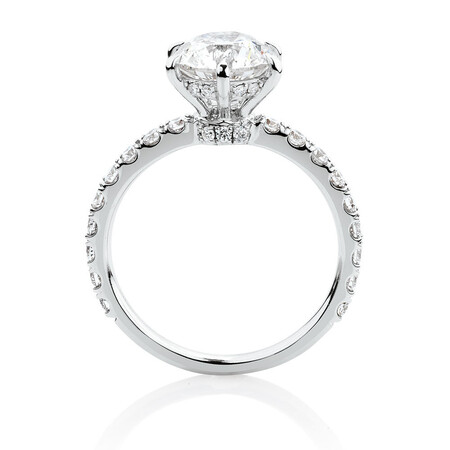 Sir Michael Hill Designer GrandAria Engagement Ring With 2.52 Carat TW Of Diamonds In 14ct White & Rose Gold