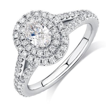 Sir Michael Hill Designer GrandArpeggio Engagement Ring with 1 1/2 Carat TW of Diamonds in 14ct White Gold