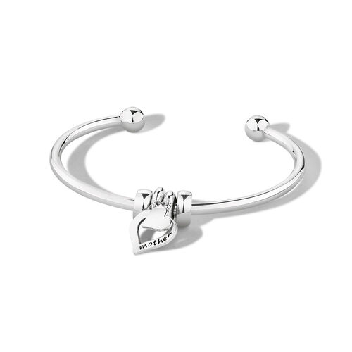 """Ready to Wear 21cm (8.5"""") Cuff Bangle in Sterling Silver"""