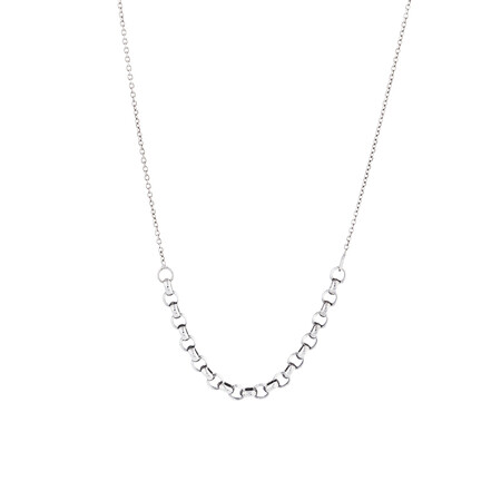 """45cm (18"""") Fancy Cable Chain in 14ct White Gold"""