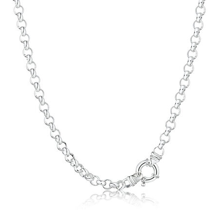 "50cm (20"") Belcher Chain in Sterling Silver"