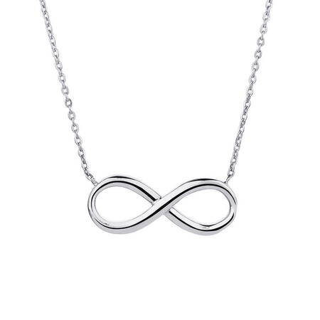 Infinity Necklace in 10ct White Gold