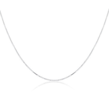 "40cm (16"") Box Chain in Sterling Silver"