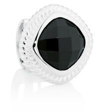Black Cubic Zirconia & Sterling Silver Wild Hearts Charm