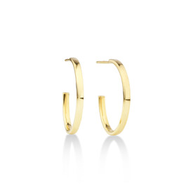 Half Hoop Stud Earring in 10ct Yellow Gold