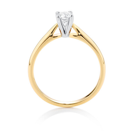 Evermore Solitaire Engagement Ring With 0.34 Carat TW Of Diamonds In 10ct Yellow & White Gold