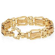 "19cm (7.5"") Gate Bracelet in 10ct Yellow Gold"