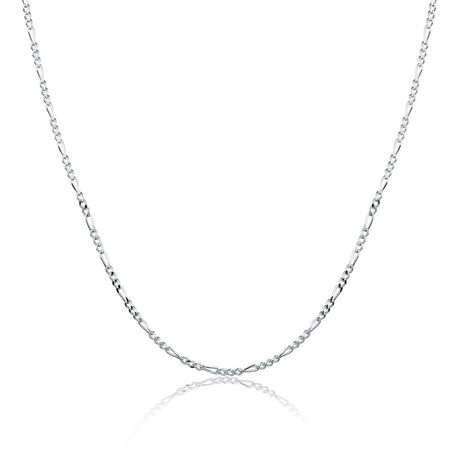 "50cm (20"") Figaro Chain in Sterling Silver"