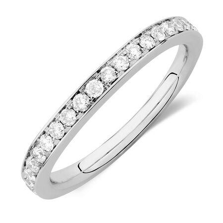Sir Michael Hill Designer GrandAmoroso Wedding Band with 0.45 Carat TW of Diamonds in 14ct White Gold