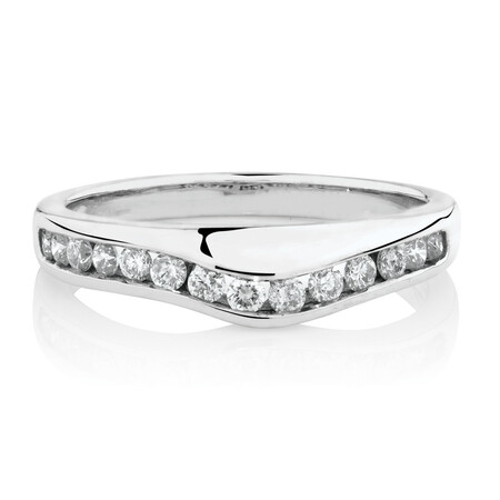 Online Exclusive - Ring with 0.25 Carat TW of Diamonds in 14ct White Gold