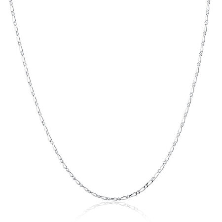 """50cm (20"""") Figaro Chain in Sterling Silver"""