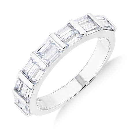 Rectangle Ring with Cubic Zirconia in Sterling Silver