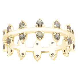 Zipper Ring with Yellow Sapphire in 10ct Yellow Gold
