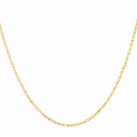 "45cm (18"") Double Curb Chain in 10ct Yellow Gold"