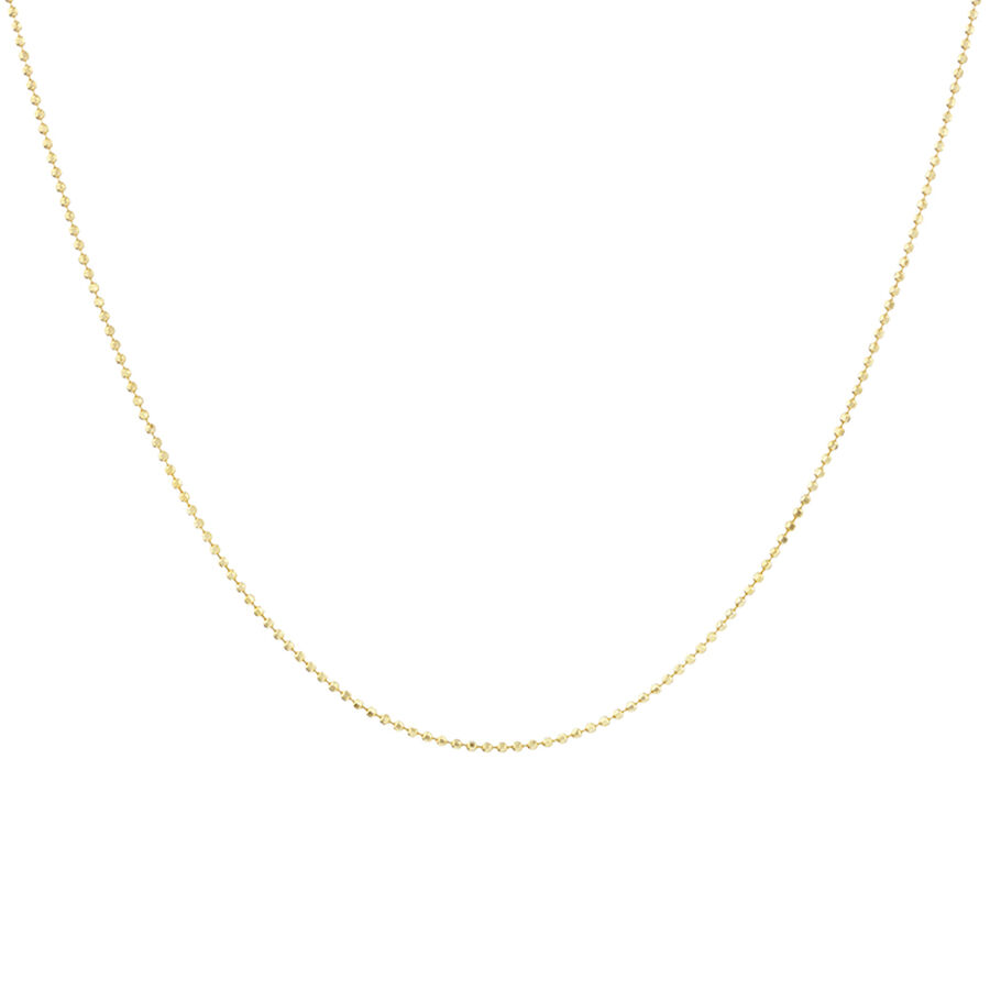 60cm Bead Chain in 10ct Yellow Gold
