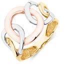 4 Circle Ring in 10ct Yellow, White, & Rose Gold