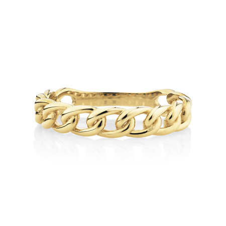Link Ring in 10ct Yellow Gold