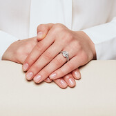 Engagement Ring with 1 Carat TW of Diamonds in 18ct White Gold