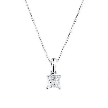 Pendant with 1/2 Carat TW Diamond in 14ct White Gold