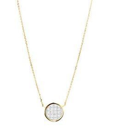 Glitter Circle Necklace in 10ct Yellow Gold