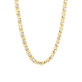 """55cm (22"""") Fancy Chain in 10ct Yellow & White Gold"""