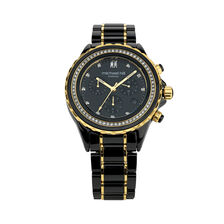 Chronograph Watch with 0.50 Carat TW of Diamonds in Black Ceramic & Gold Tone Stainless Steel