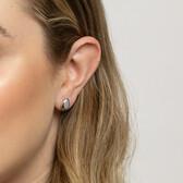 Teardrop Stud Earrings in Sterling Silver